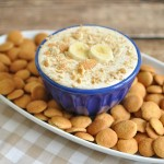 Easy dessert dip recipe that tastes like banana pudding. Great party dip for your next pot luck or holiday gathering.