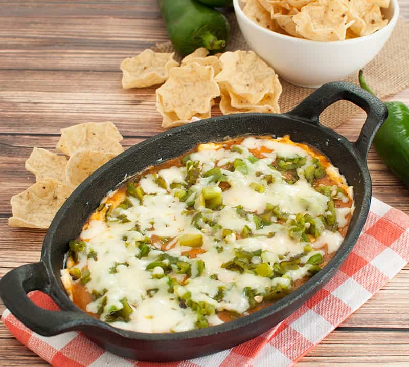 Chile Relleno Dip in cast iron dish