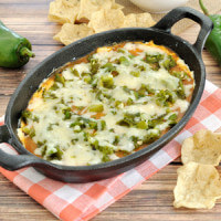 Easy dip recipe inspired by the popular Mexican dish. Makes a great appetizer for a Cinco de May or other Mexican themed party.