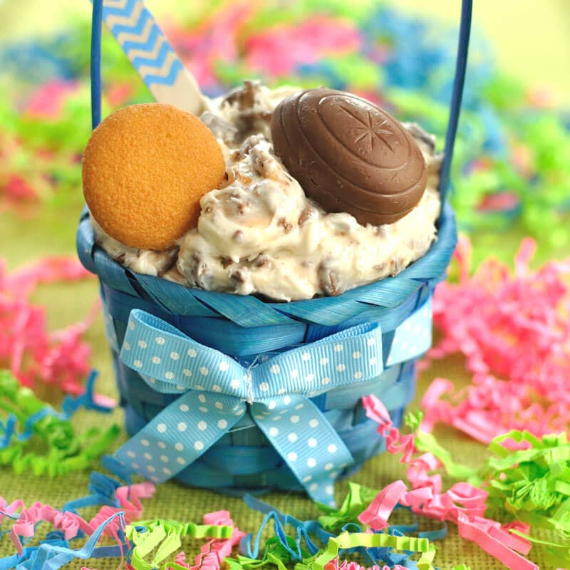 Easy dessert dip recipe for Easter made with Cadbury Creme Eggs. This Cadbury Creme Egg Dip will be a hit at your Easter party or gathering.