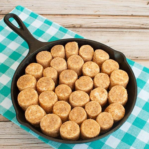 Sep 2- Coconut marshmallows on top of samoa pie dip skillet