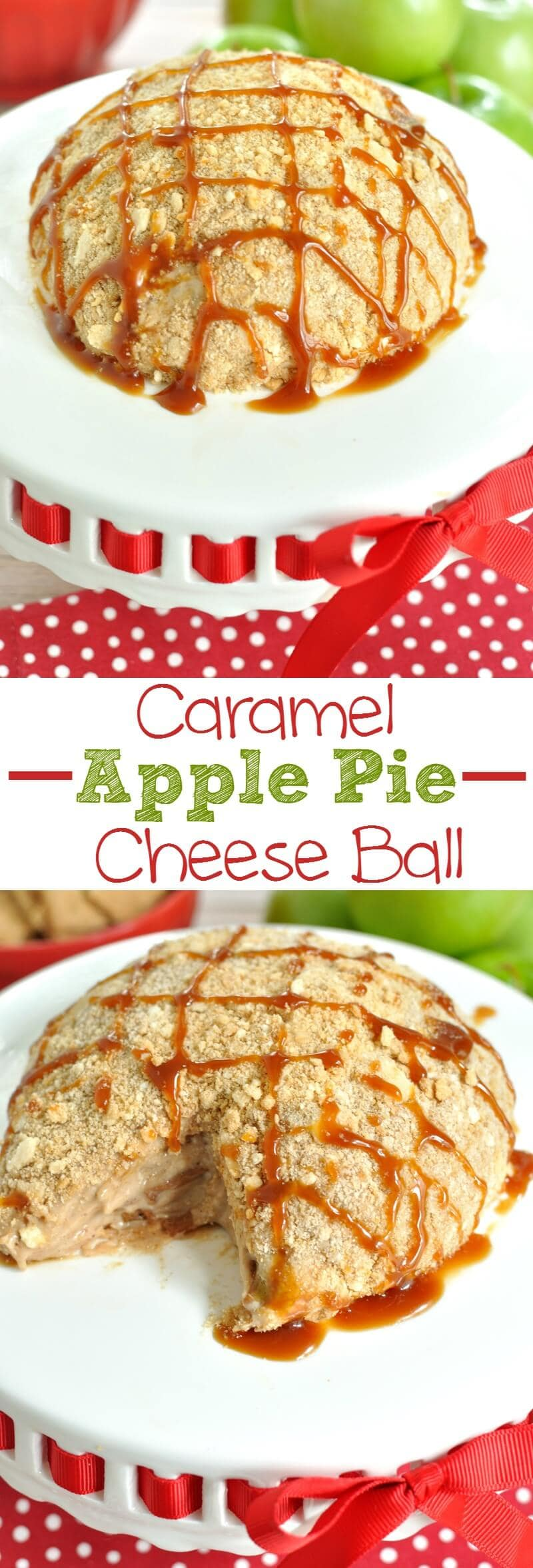 caramel-apple-pie-cheese-ball-collage