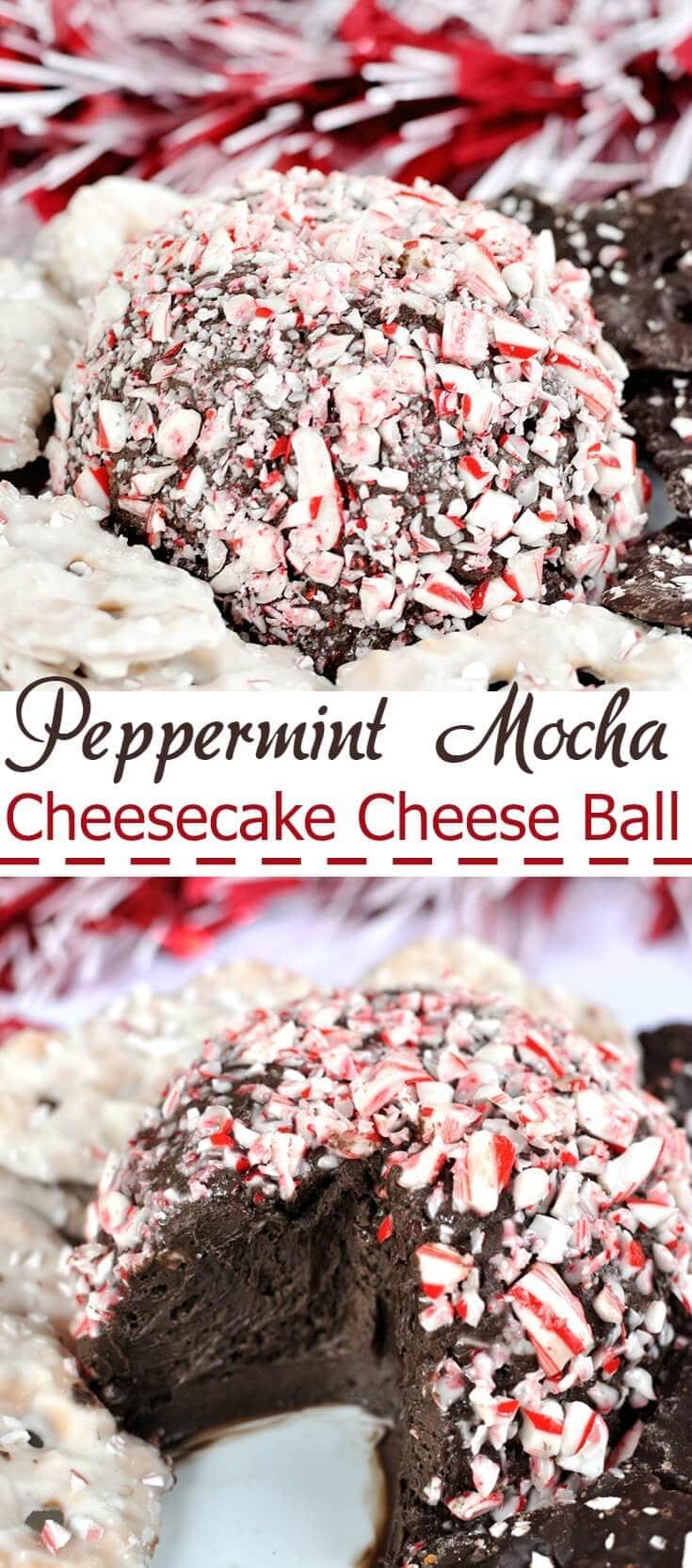peppermint mocha cheesecake cheese ball recipe