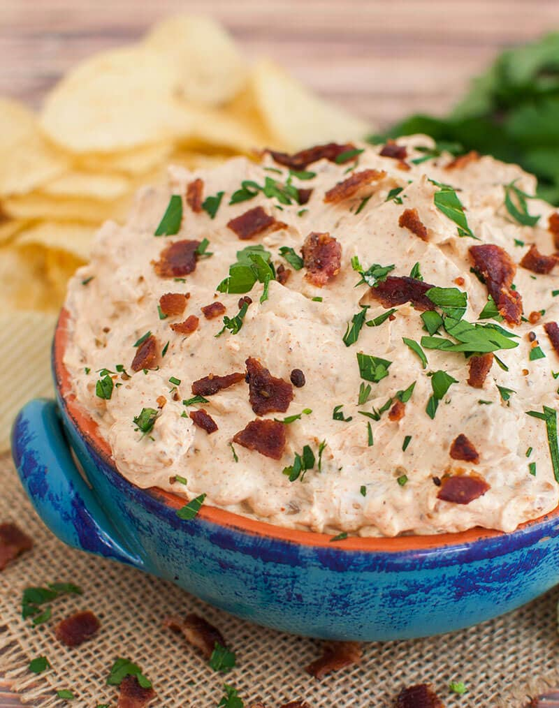 BBQ Bacon Homemade French Onion Dip Recipe
