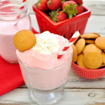 Inspired by a summertime favorite, this 4 ingredient Strawberry Milkshake Dip is a sweet and cool dip for those hot summer days. Serve with fresh strawberries as a fruit dip or vanilla wafers or graham crackers for dessert.