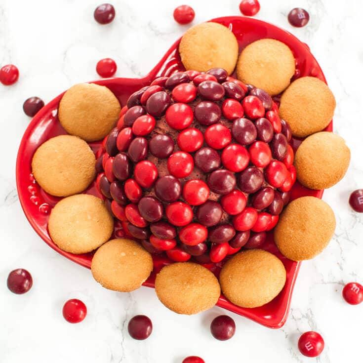 Cherry Chocolate M&M Cheese Ball