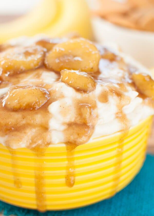Bananas Foster Cheesecake Dip