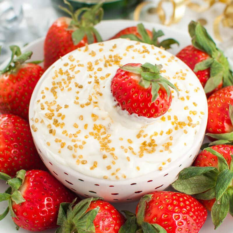 Champagne Cheesecake Fruit Dip