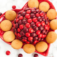 Cherry Chocolate M&M Cheese Ball