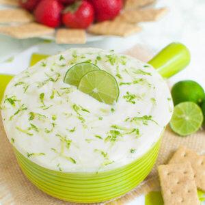Key Lime Pie Cream Cheese Fruit Dip
