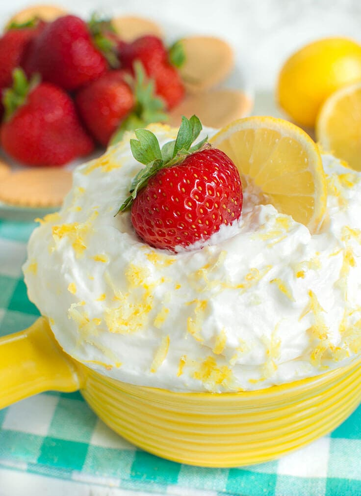 Lemon Cream Cheese Fruit Dip Recipe