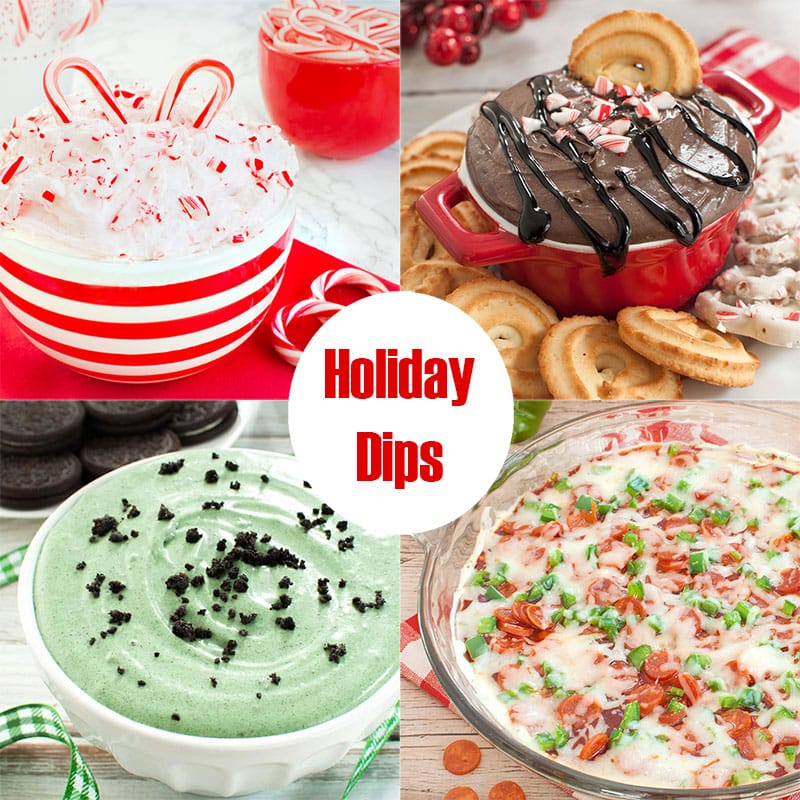 collection of 4 holiday dip photos