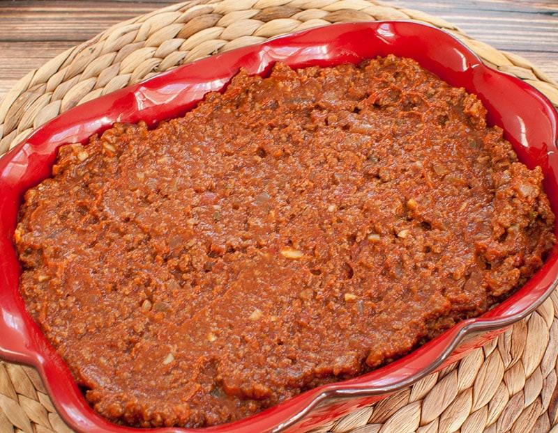 layer 2 of dip in baking dish